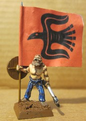 The Raven Banner flies. Battle Standard Bearer counts as Jarl or Skald.